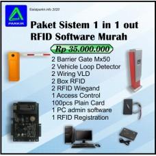 Paket Sistem RFID Software 1 in 1 out Murah