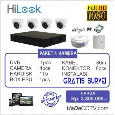 Paket CCTV Hilook 4 Kamera