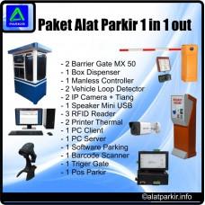 Paket Alat Parkir 1 Masuk 1 Keluar Murah