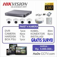 Hikvision Paket 4 Kamera